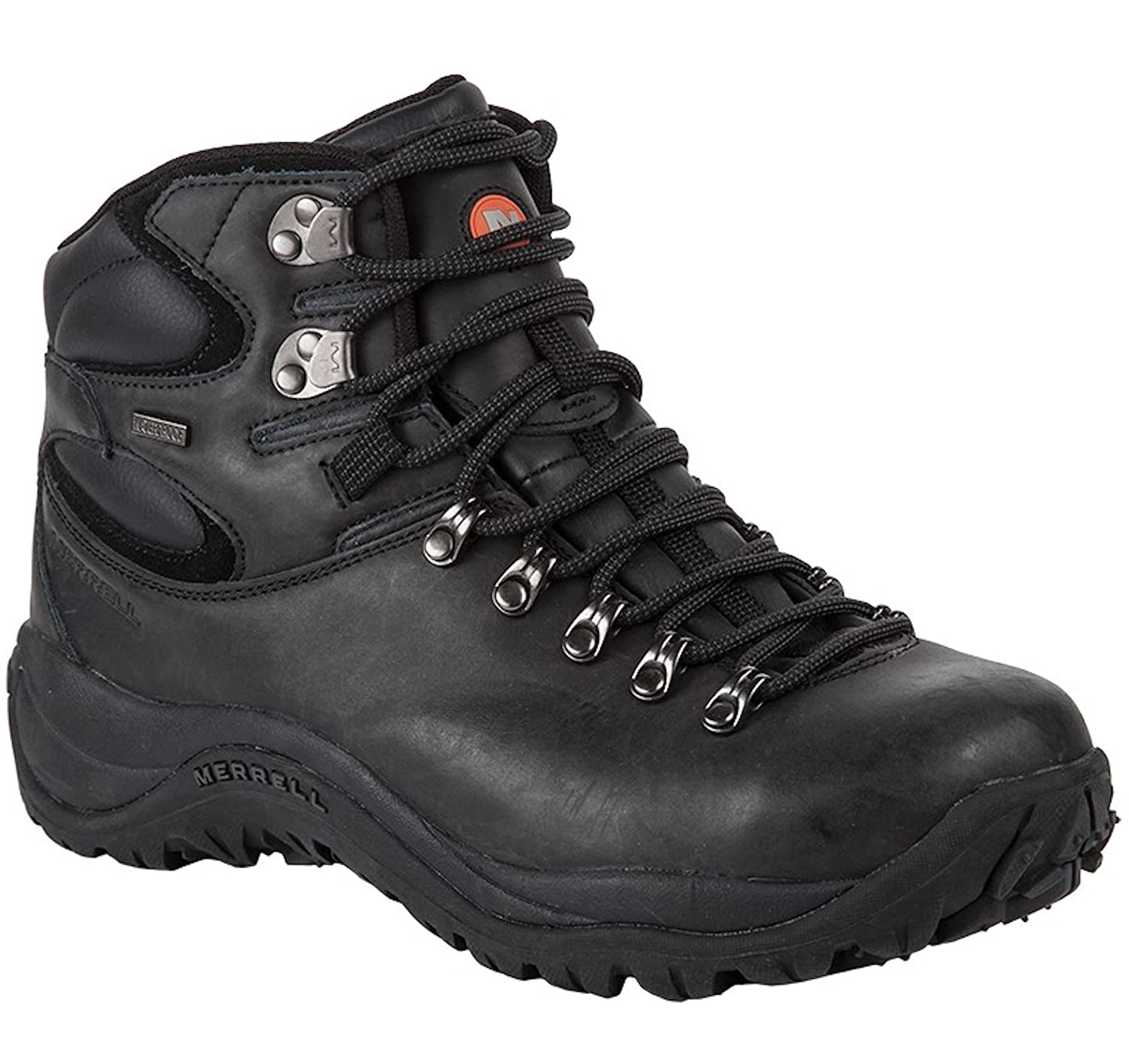 30ca077e6ba Merrell Mens Reflex II Mid Leather Waterproof Boots (47, Black ...