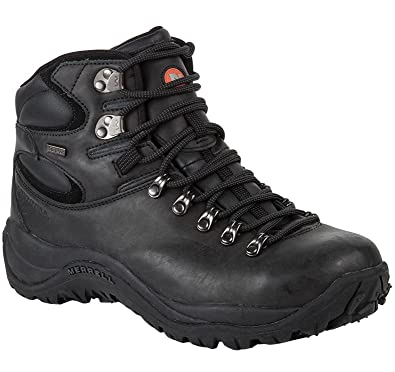 4bf8704b2dc Merrell Mens Reflex II Mid Leather Waterproof Boots (47, Black ...