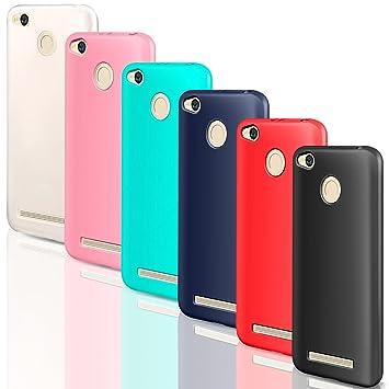 6x Funda Xiaomi Redmi 4A, Leathlux Carcasas 6 juntas Ultra Fina Silicona TPU Gel Protector Flexible Colores Case Cover para Xiaomi Redmi 4A 5.0