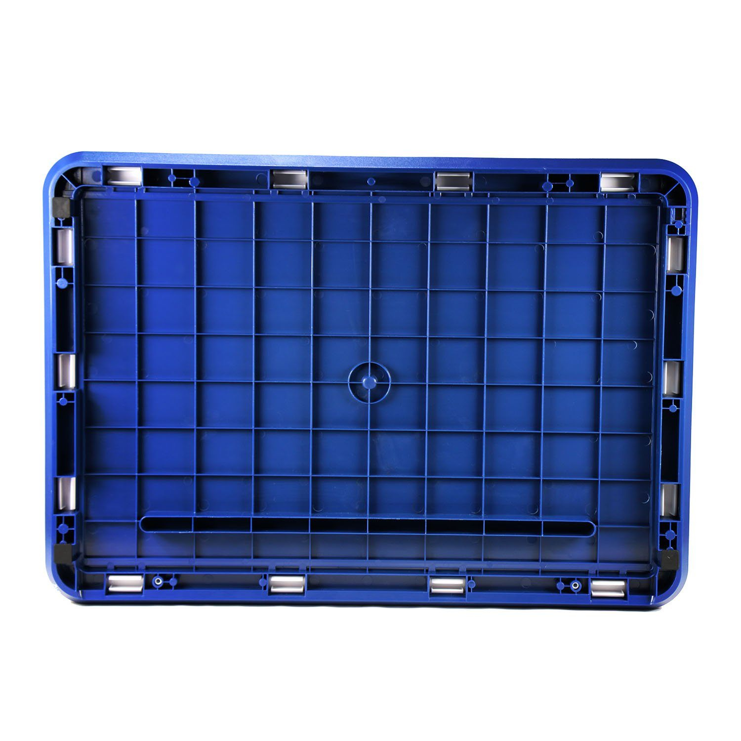 Storage Container Stackable Bins with Digit Lock ABS Safety Large Capacity 78L (blue)