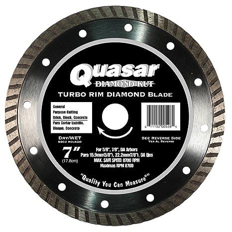 Quasar Diamond-Kut Turbo 7-Inch Blade Fits 5/8-7/