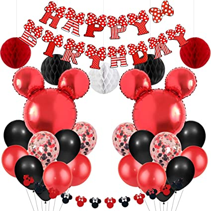 Amazon.com: Mickey y Minnie Mouse suministros de fiesta rojo ...