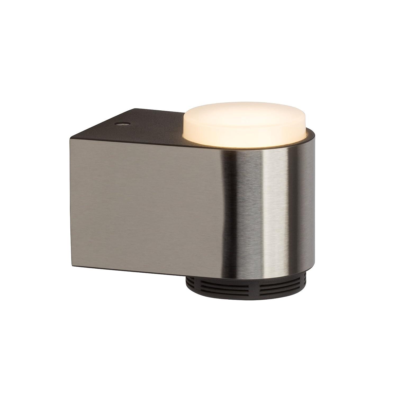 Moderne 3W LED Badleuchte Wandleuchte mit Blautooth-Lautsprecher, IP44, 230 Lumen, 3000K warmweiß, Metall Kunststoff, chrom weiß