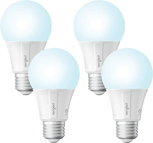 Sengled Smart Light Bulb, Smart Bulbs that Work with Alexa, Google Home Smart Hub Required , Smart Bulb A19 Alexa Light Bulbs, Smart LED Daylight 5000K , 800LM, 9W 60w Equivalent , 4 Pack