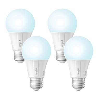 Sengled Smart LED Daylight A19 Light Bulb, Hub Required, 5000K 60W Equivalent, Compatible with Alexa, Google Assistant & SmartThings, 4 Pack