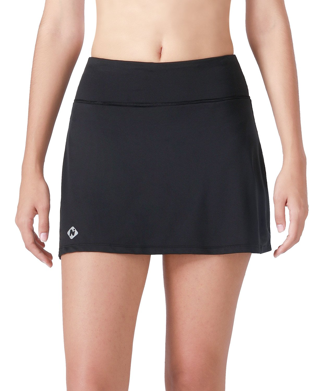 Naviskin Women's Active Athletic Skort Lightweight Skirt with Pockets Inner Shorts Perfect for Running Golf Tennis Workout Casual Use Black Size M by Naviskin