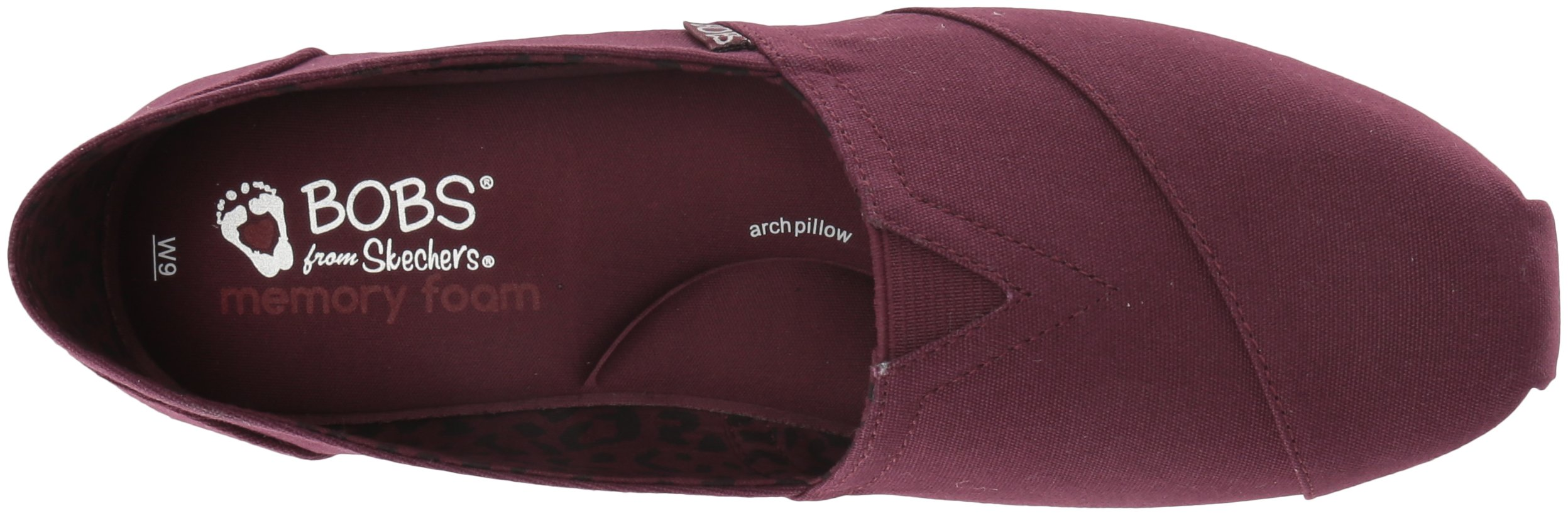 Skechers BOBS Women's Plush-Peace and Love Ballet Flat, Burgundy, 8 M US by Skechers (Image #7)