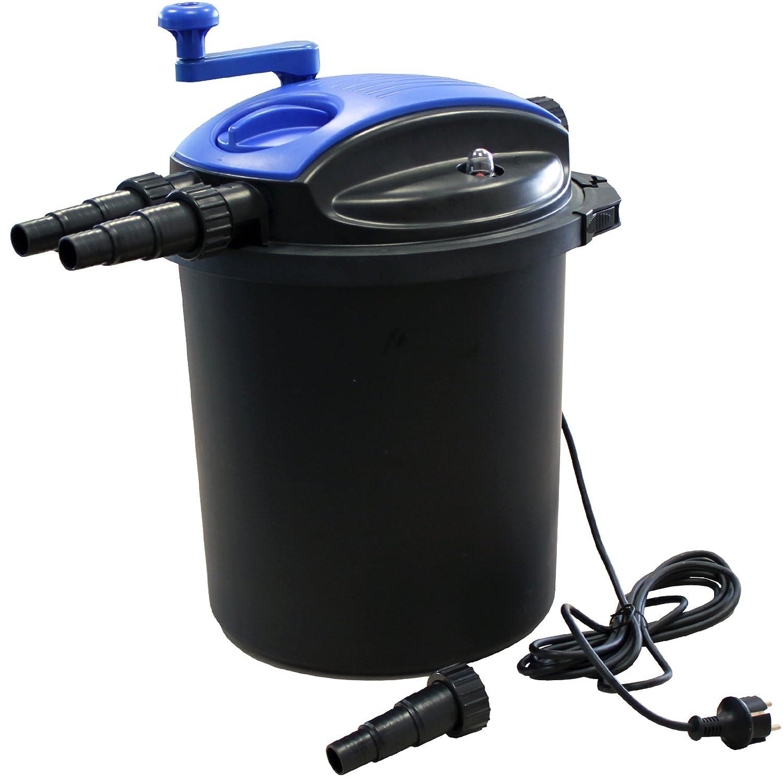 JAD efu-10000a Bio Druckfilter mit 18W UV-Einheit und Reinigungskurbel, Teichfilter, Koi Teich Filter UVC