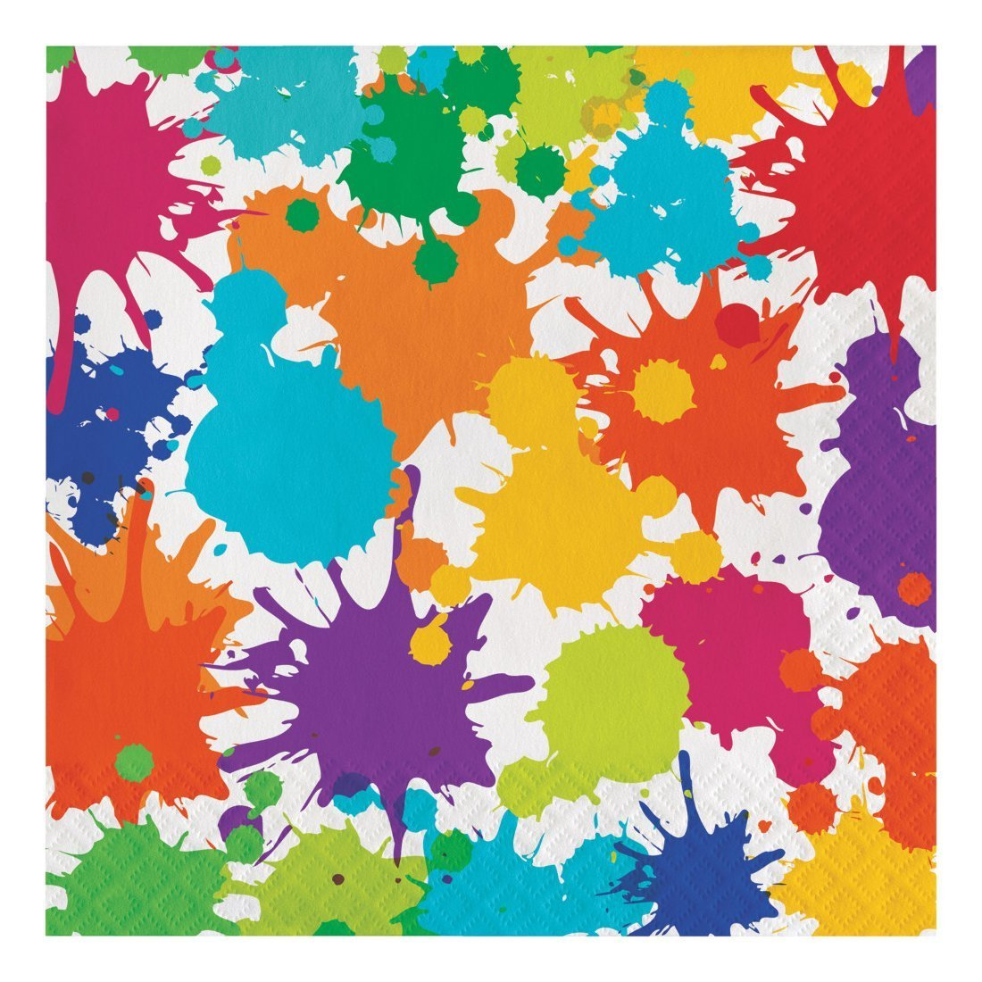 Creative Converting 317267 48 Count Paper Lunch Napkins, Art Party
