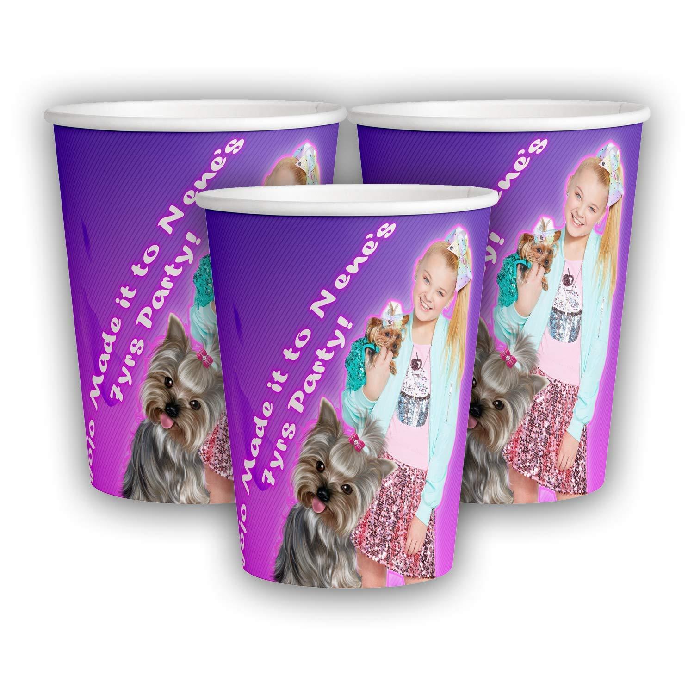 12 Personalized Jojo Siwa 9 oz Paper Cups