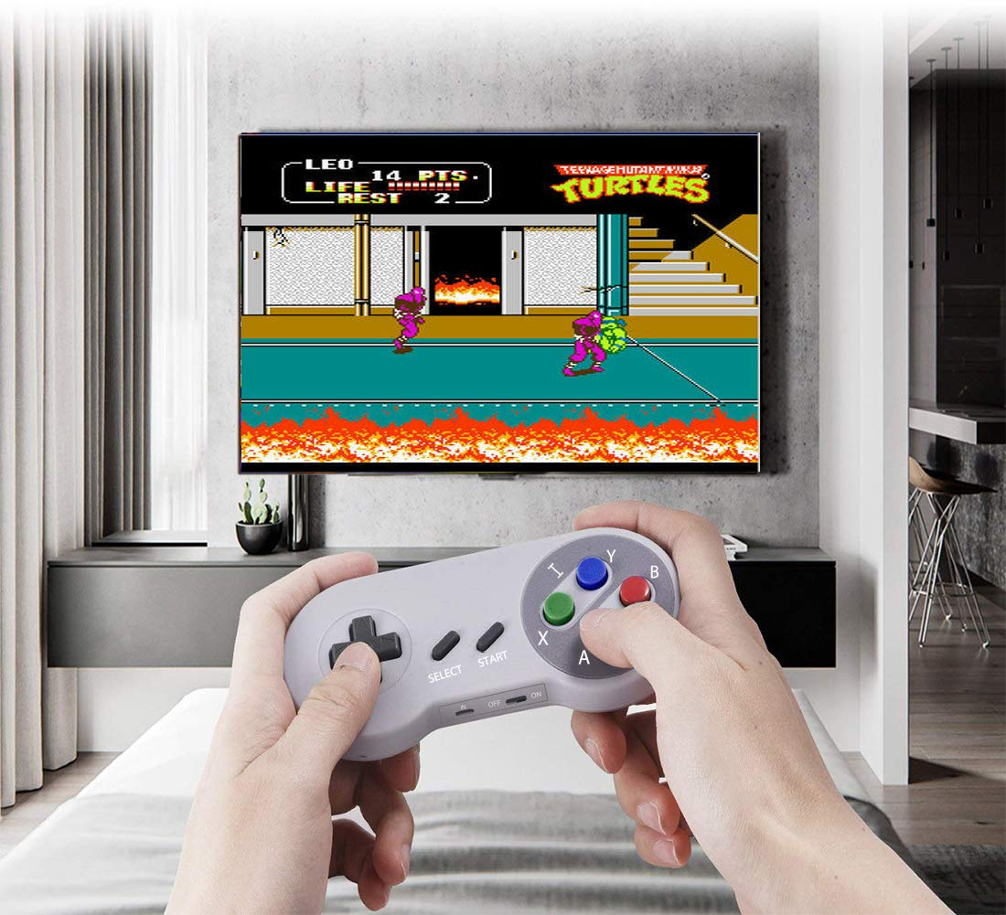 Xinguo Family Classic Game Consoles, Wireless Controller,Childhood Retro Game Console Built-in 557 TV Video Games, with Dual Wireless Controllers. (JP02) by Xinguo (Image #6)
