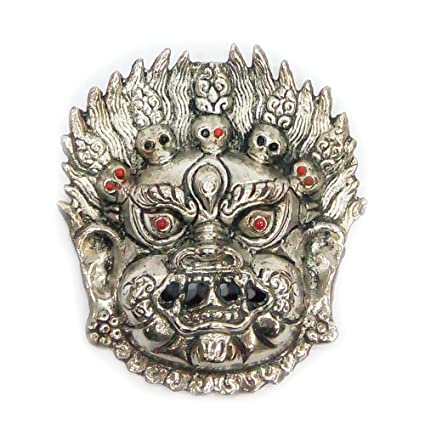 Amazon Com Indian Handicrafts Export Oxidized Metal Showpeace Face