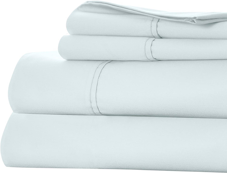 Lavish Home 66-Q0016-SG 1000 TC Cotton Rich Sateen Sheet Set-Queen Sprout Green