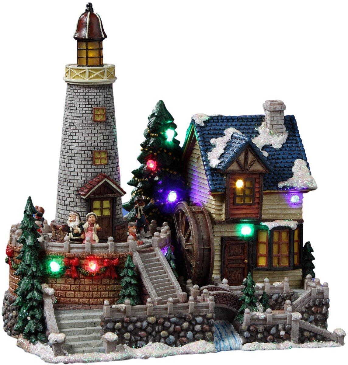 【オンライン限定商品】 Santa`s Animated Lighthouse Santa`s Village Figurine Color by The San Francisco Music Music Box Company (並行輸入品) B07DQCRNKC One Color One Size, 中区:60a24ae6 --- arcego.dominiotemporario.com