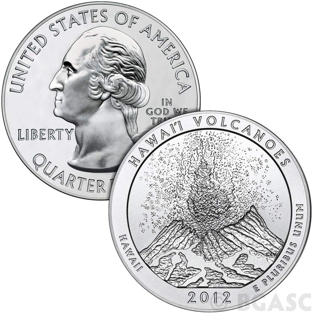 2012-S Hawaii Volcanoes  National Park Quarter Choice BU