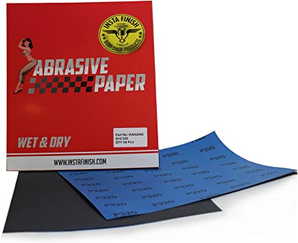 KAS-2021 Multi Grit 50 Sheets 9 in x 11 in 800 Grit Insta Finish Sonbateh Wet//Dry Sheet Sandpaper