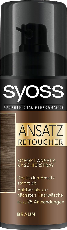 Syoss Ansatz Retoucher Kaschierspray, Braun Stufe 1, 3er Pack (3 x 120 ml) SZ300