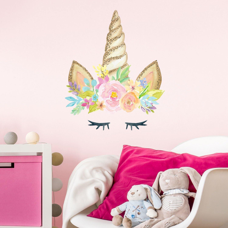Sticker Mural Corne de Licorne sticker mural pour enfants Licorne autocollants mural