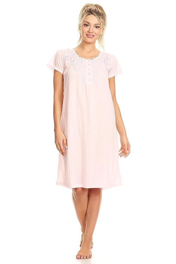 00107 Women Night Gowns Sleep Shirts Pajamas at Amazon Women s Clothing  store  5926c923c