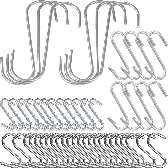 7 opinioni per COM-FOUR® 50x ganci a S, ganci da cucina, in acciaio inox, diverse dimensioni