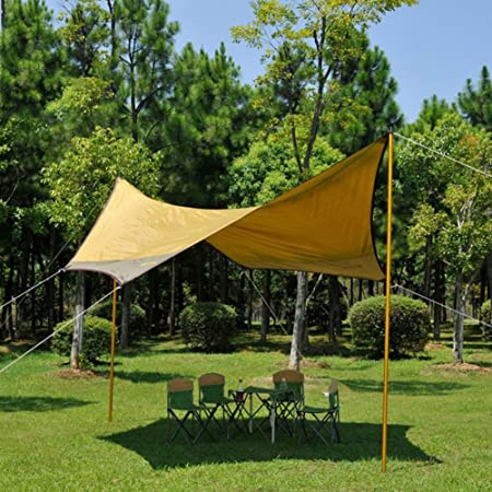 CLDBHBRK toldo de Lona de Camping Anti UV cobertizo, pérgola al Aire Libre portátil Impermeable Protector Solar, Anti UV Sandy Playa Tienda Plegable Naranja 400400210Cm: Amazon.es: Hogar