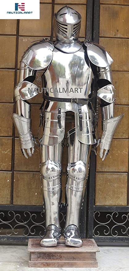 nauticalmart medieval knight wearable full suit of armor halloween costume