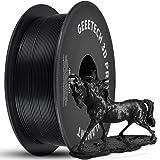 GEEETECH PLA 3D Printer Filament 1.75mm Black, 1kg (2.2lbs) Spool, Upgrade Tidy Winding Tangle-Free