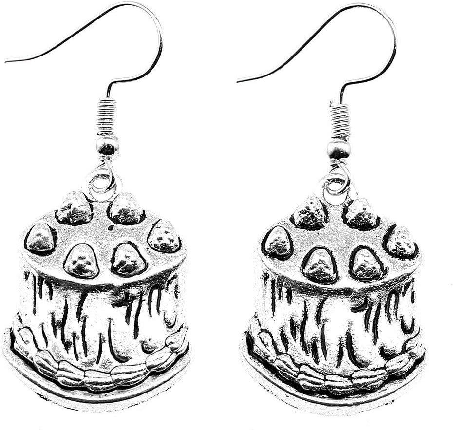 Taliyah 1 Pair Birthday Cake Drop Earrings Jewelry Earrings with Earring Cap