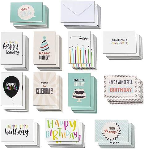 Amazon.com: Paquete de 120 tarjetas de felicitación de ...