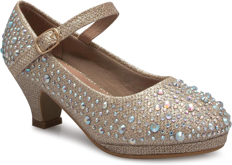 Champag Rhinestones Glitter Open Toe
