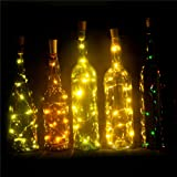 Amazon Price History for:Set of 6 Wine Bottle Lights Battery Powered, LED Cork Shaped Starry String Lights - 15LED 30inch Copper Wire Fairy Lights for Bottle DIY, Party, Decor, Christmas, Wedding, Dancing, Warm White EIISON