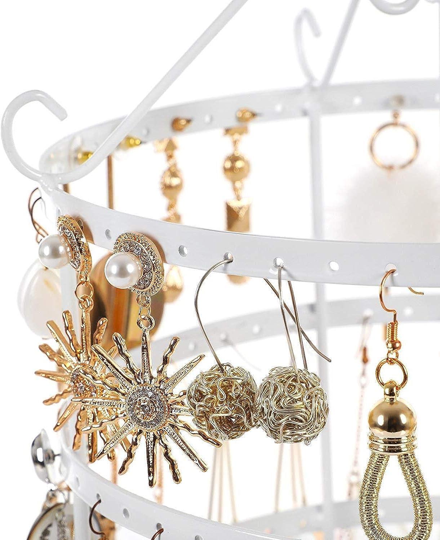 Milopon Support pour boucles doreilles et bijoux Rose