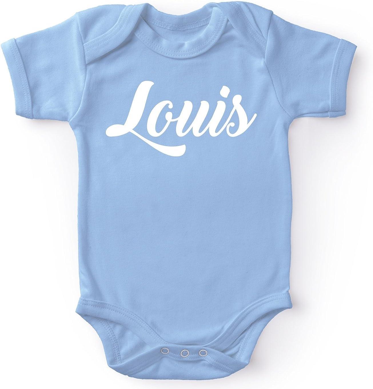 Body Bleu Ciel avec pr/énom imprim/é Cadeau de Naissance id/éal OKIWOKI Body b/éb/é Body b/éb/é Louis