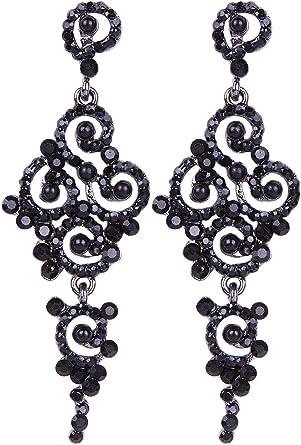 Women/'s Earring Gatsby Pearl Earrings Art Deco Vintage 1920s Flapper Jewelry Ear