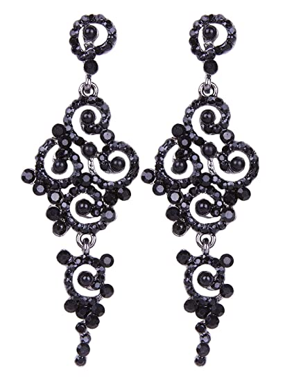 b0c585ead5a Amazon.com  Vijiv Gatsby Earrings Art Deco Vintage 1920s Flapper Jewelry  Accessories Party  Jewelry