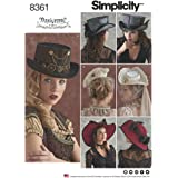 Simplicity Pattern 8361 Four Hats in Three Sizes by Arkivestry, Size S-M-L
