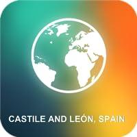 Castela e Leão, Espanha Mapa