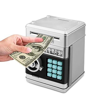 c28e7e002 Zonkin Cartoon Electronic ATM Password Piggy Bank Cash Coin Can Auto Scroll  Paper Money Saving Box