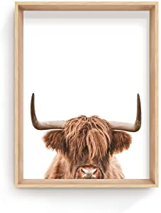 """Haus and Hues Highland Cow Wall Art - Highland Cow Print and Bull Wall Art Cow Wall Decor Cow Pictures Wall Decor 