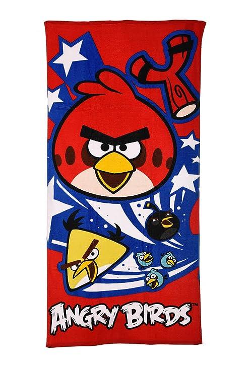 70 x 140 cm Angry Birds Toalla ba/ño para ni/ños
