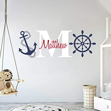 Personalized Kids DOOR SIGN Red and Navy Little Sail Boat Nautical Sailing Ship Sea Boys Bedroom Baby Nursery Door Sign DS0040