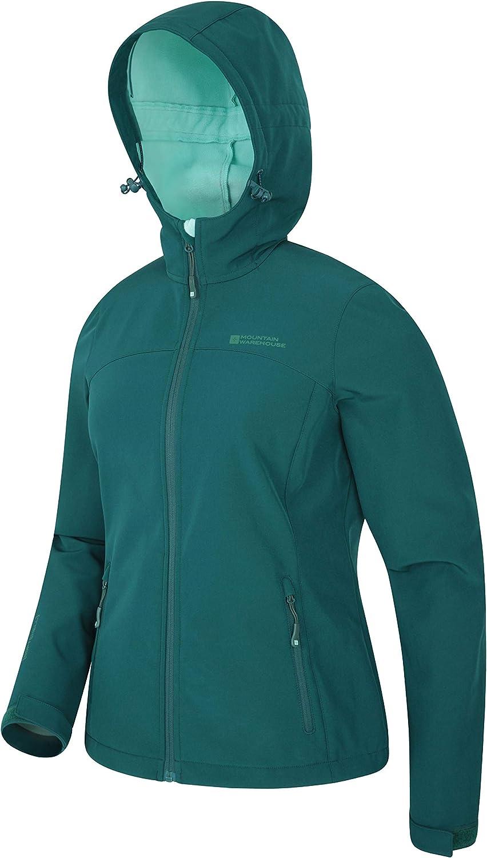 Mountain Warehouse Exodus Womens Softshell Jacket - Cycling Shell Dark Green