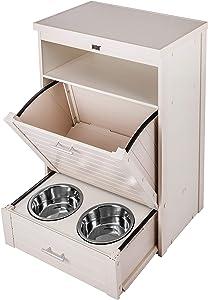 New Age Pet ecoFLEX Dog Food Pantry/Double Dog Bowl