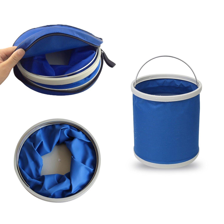 Odowalker faltbar Eimer Tragbare Folding Water Bag für Outdoor Camping Wandern Reise und KFZ-Reinigung – Mit Tragetasche Tote