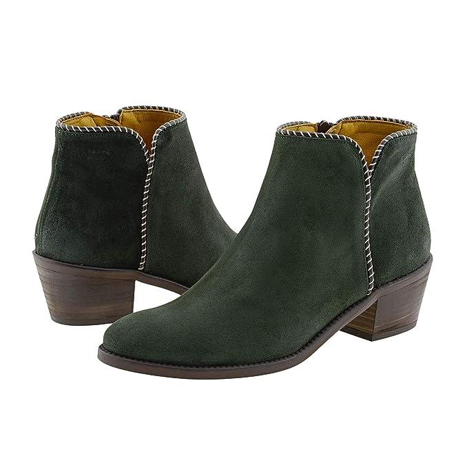 Botines Valverde Camino Piel Talla: 39 Color: Verde: Amazon.es: Zapatos y complementos