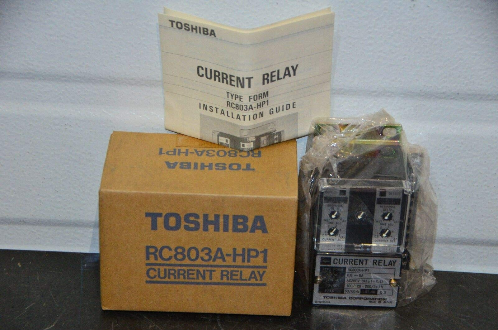 labtechsales Toshiba RC803A-HP1 Current Relay Overcurrent/Undercurrent Protection 0.5-5A