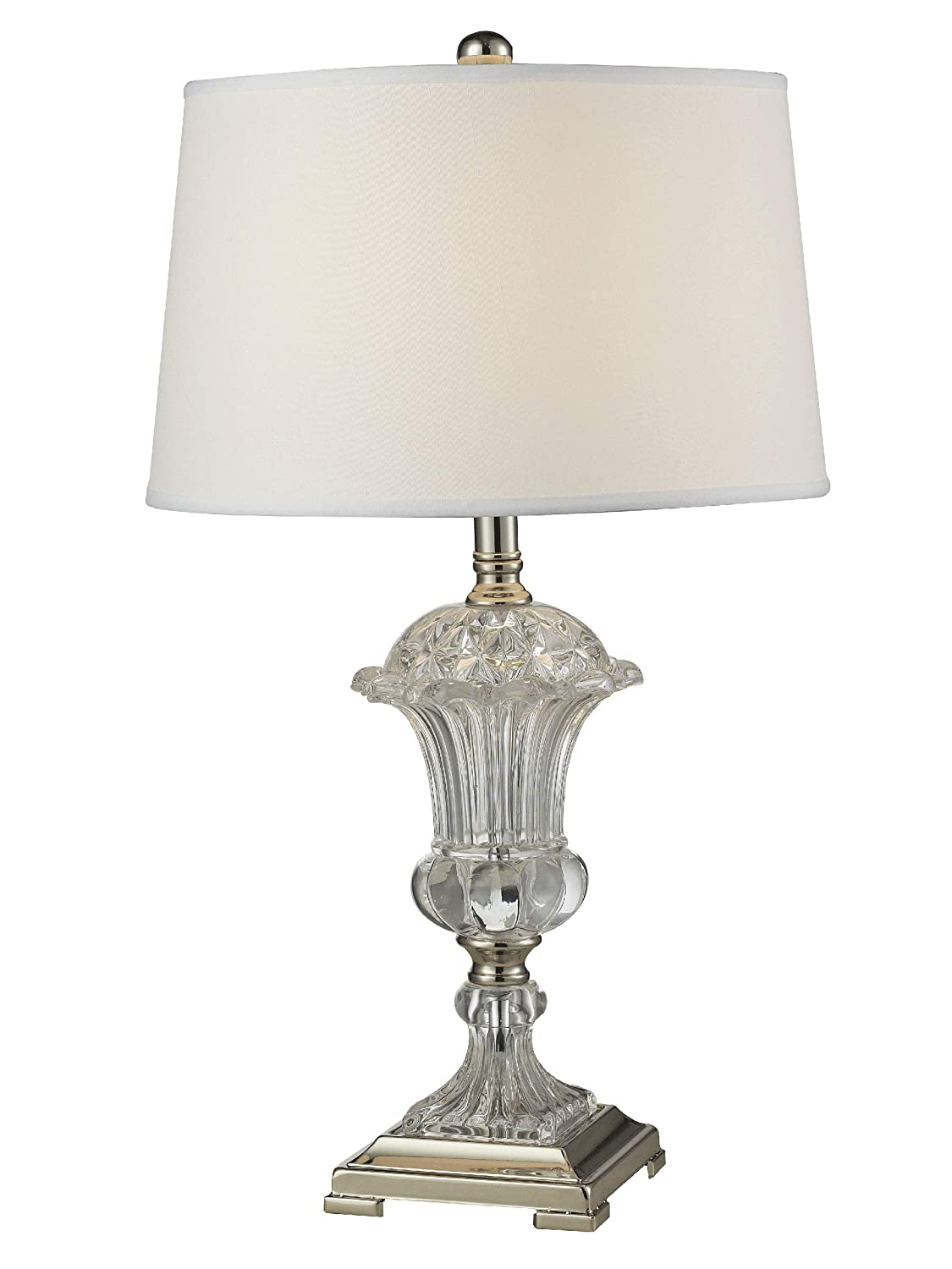 Dale Tiffany Gt14268 Crystal Orb Table Lamp Polished Nickel