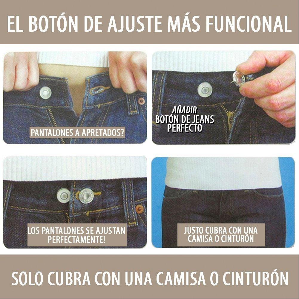 Amazon.com: Fybrex Botón de Jeans Perfecto Prácticos Fáciles de Reemplazar sin Costuras, Añade o Reduce Medidas de Cualquier Tipo de Pantalón, ...