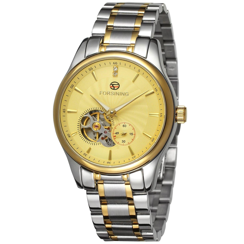 forsining automático de carcasa de acero inoxidable hombre lujo reloj de muñeca fsg9406 m4t2: Amazon.es: Relojes