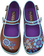 Hot Chocolate Design Chocolaticas Blue Flowers Women's Mary Jane Flat